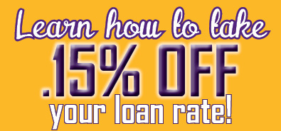 Learn How take.15 off loan rate